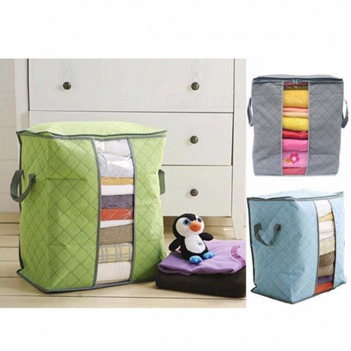 Quilt Storage Bag Colorful Bamboo Charcoal Clothing And Finishing Bags Closet Organizer Wardrobe Orange