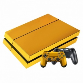 Gold Plating PS4 Slim Skin Sticker Decal For Sony PlayStation 4 Console And Controller Gold