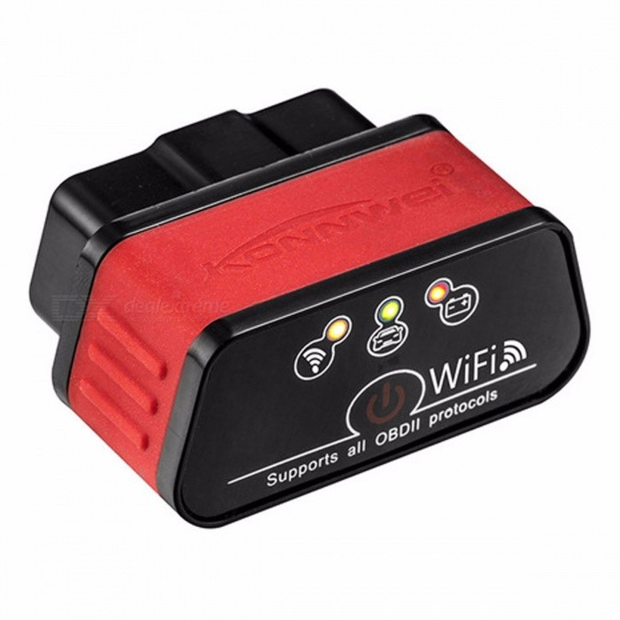 Konnwei KW903 ELM327 WIFI OBD2 Auto Diagnostic Tool ODB II Automotive Scanner For  IOS IPhone Android Phone