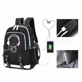 2018 New School Bag Cool Luminous Backpack Fashion Multi-functional  Charging Travel Bag 17 Inches 7e69f9490199c