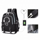 2018-New-School-Bag-Cool-Luminous-Backpack-Fashion-Multi-functional-Charging-Travel-Bag-Black17-Inches