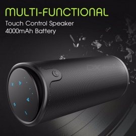 ZEALOT S8 HiFi 3D Stereo Wireless Bluetooth Speaker Column Touch Control Support TF Card AUX Handsfree With Microphone Black/Speaker