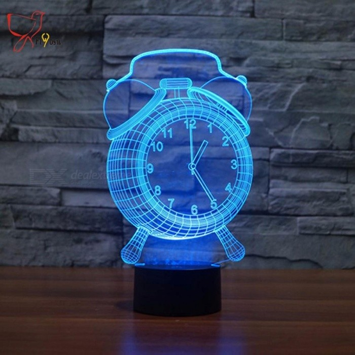 Colorful 3D Night Light Creative Touch Led Night Light Desk Lamp For Kids Bedroom LED Illusion Lights Fixture Clear/0-5W