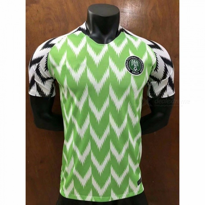 Buy Men's Short Sleeve T-Shirt Nigeria Team The Same Paragraph Jersey Mint/L with Litecoins with Free Shipping on Gipsybee.com