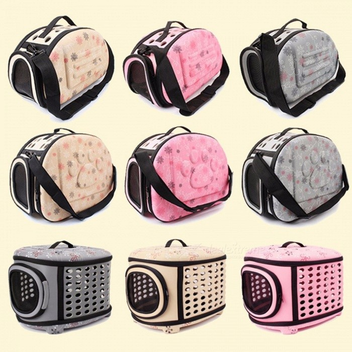 EVA Folding Pet Carrier Puppy Dog Cat Outdoor Travel For Small Dog Pet Dog Soft Kennel Pet Carrier Bag