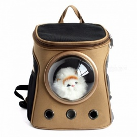 Pet Supplies Canvas Capsules Pet Backpack Transparent Breathable Shoulders Out Portable For Small Cats Dogs Yellow