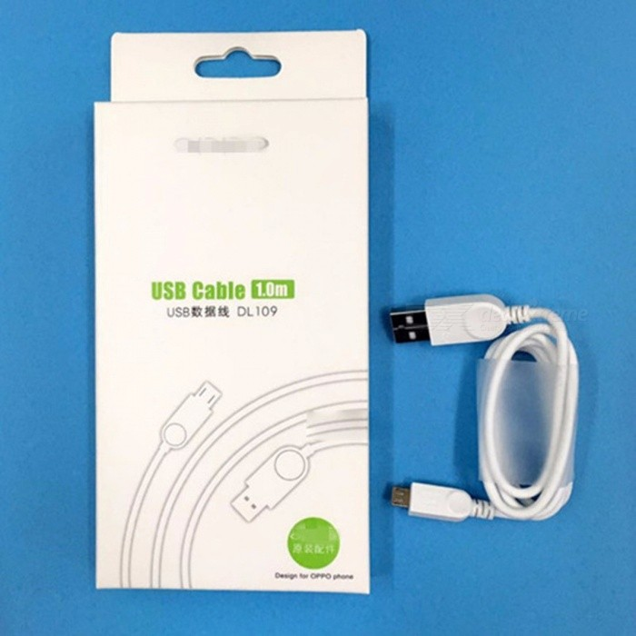2A USB Data Cable Mobile Phone Charging Cable Android Data Cable For Oppo A33 A59 White/1m