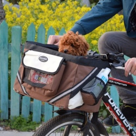 Techome-Hot-Sale-PET-Bicycles-Carrier-Portable-Bicycles-Basket-Dog-Puppy-Dog-cat-For-Small-Dog-Burgundy