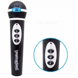 Wireless Children Microphone Toys KTV Music Mic Karaoke Singing Pretend Funny Microphone Mic Karaoke Singing Pretend Toy Black