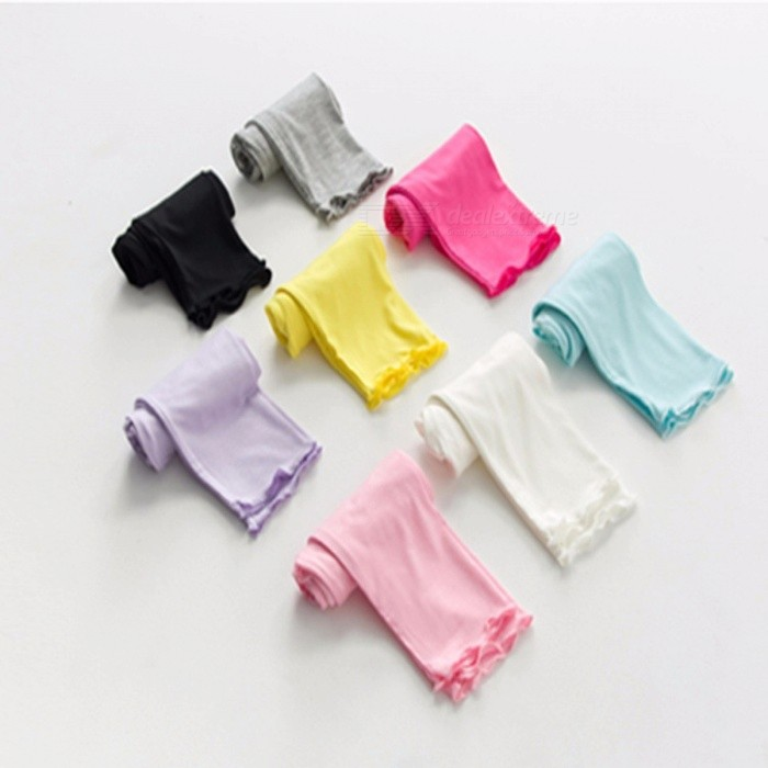 Summer Girls Leggings Candy Color Children Leggings Cropped Pants
