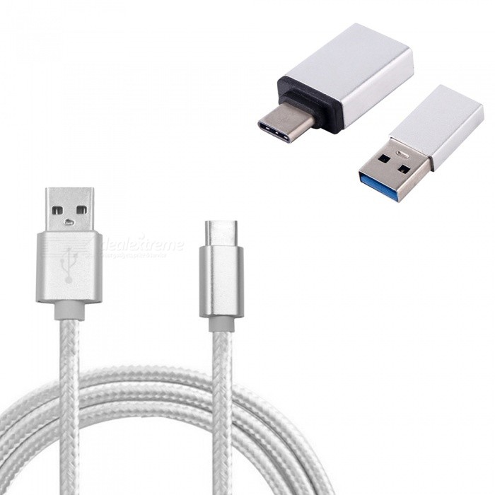 USB 3.1 Type-C to USB 3.0 Charging Data Cable + OTG Adapter + USB Adapter