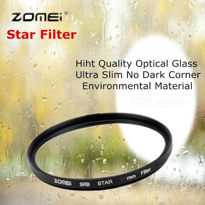 ZOMEI Circular Star Filter, 4 / 6 / 8 Point Optical Camera Lens w/ Caliber 52mm