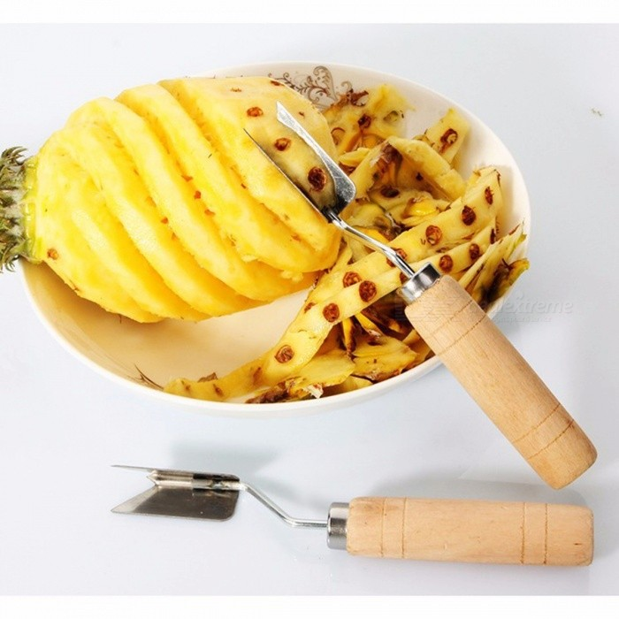 Stainless Steel Fruit Pineapple Peeler Slicers Cutter Pineapple Knife Fruit Salad Kitchen Tools Easy Cleaning Yellow