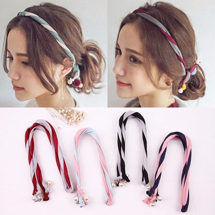 Buy Korean Style Fashion Exquisite Hairband Hair Bands Hair Accessories With Imitation Pearl Decoration with Litecoins with Free Shipping on Gipsybee.com