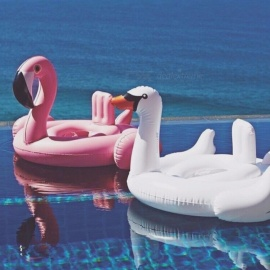 Baby Swimming Float Baby Seat Float Inflatable Flamingo Swan Pool Float Baby Summer Water Fun Pool Toy Kids Swimming Pink