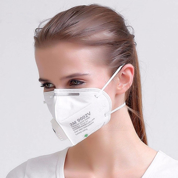 Influenza Non Breathing 9002v Folding Woven Fabric W Anti Dust 3m Pm 5 Filter 2 Valve Mask