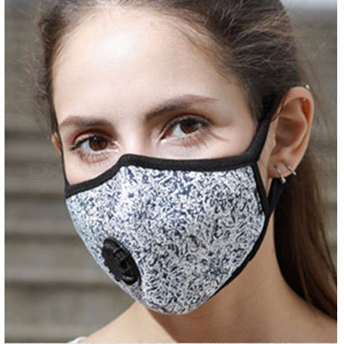 Analytical Cotton Anti Haze Mouth Mask Anti Dust Mask Activated Carbon Filter Windproof Mouth-muffle Bacteria Proof Flu Face Masks Fashion Women's Accessories