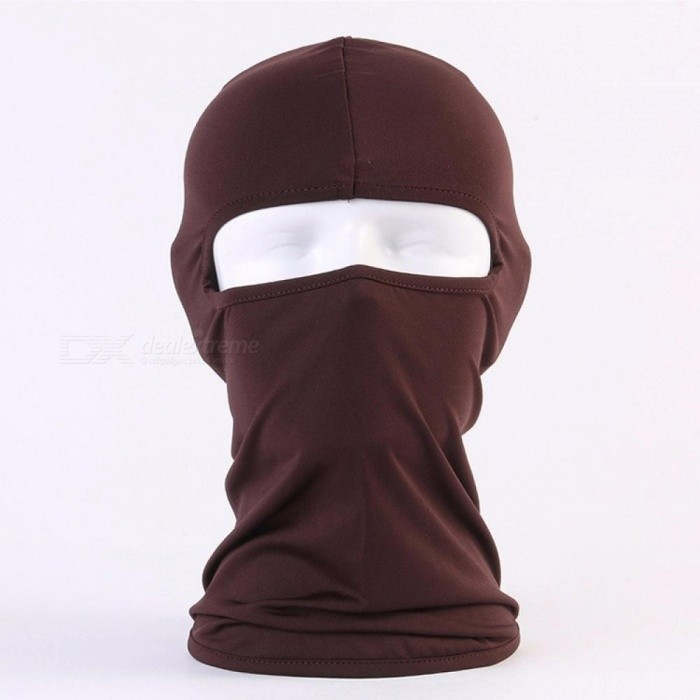Outdoor Riding Masks Soft Equipment Bicycles Motorcycle Windscreen Sunscreen Dust CS Mask Chocolate