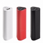 HOCO J23 Portable Triangle 2500mAh External Battery Charger Pack, Power Bank For Mobile Phones Red
