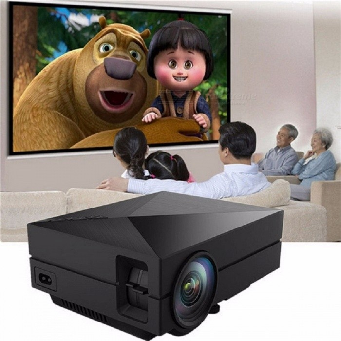 GM60 Mini LCD LED Projector, 1000LM 800 X 480 Pixels 1080P HD Projection Home Theater Projector Color1