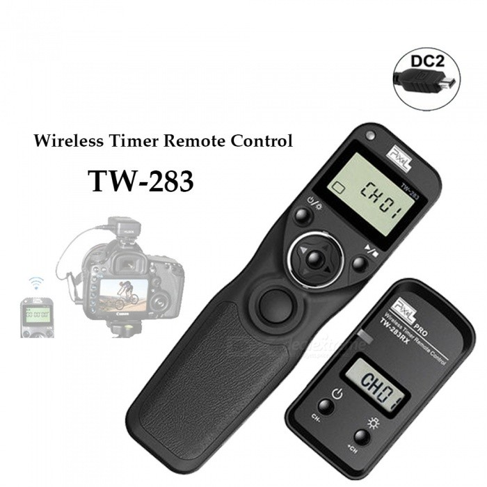 TW-283 Wireless Timer Remote Control Shutter Release (DC0 DC2 N3 E3 S1 S2) Cable For Canon Nikon Sony Camera TW283 VS RC-6