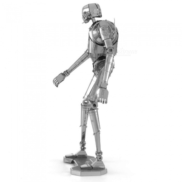 XMD DIY 3D Metal Model Kits Puzzle Star Wars K-2SO Robot Assembled Educational Toy - Silver