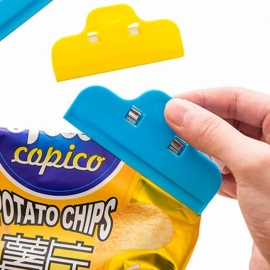Portable ABS Practical Food Sealing Strong Clamp Clip Powder Food Package Bag Clip