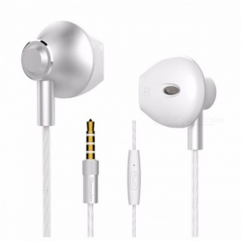 Langsdom M420 Volume Control Alloy 3.5mm Wired In-Ear Earphones Bass Headset Stereo Earphones With Mic For Phone PC Gray