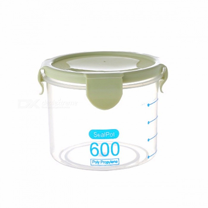 600/800/1000ML Transparent Plastic Sealed Cans Refrigerator Kitchen Grain Food Storage Box Plastic Containers With Lid Sky Blue/L