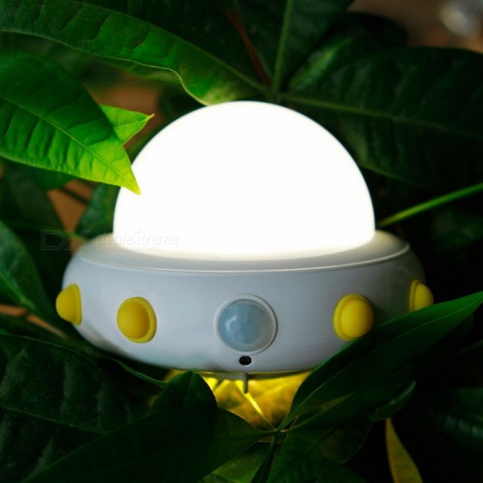 Novelty UFO Night Light Bedside Table Wall Lamp Rechargeable Lamps USB Charging LED Motion Sensor Activated Kids Light