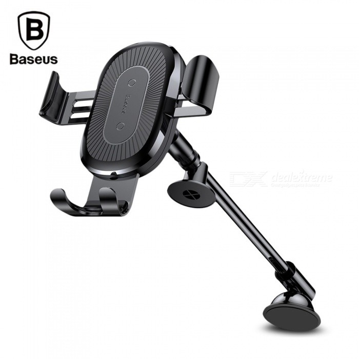 Baseus QI Wireless Fast Charger Gravity Car Mount Holder 10W Silicone Phone Holder 4.0-6.5 Inch Adjustable