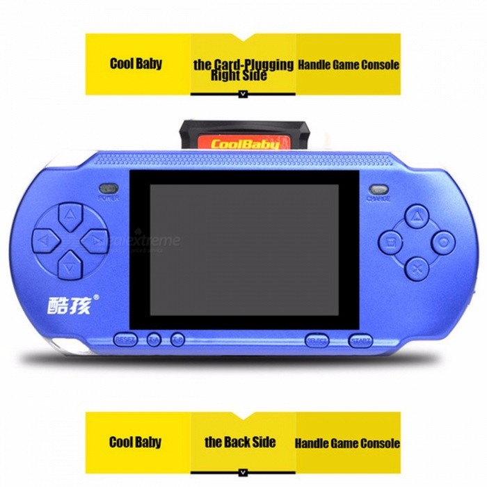 Image of RS-15 Handheld Game Console 3.2 Inch Children Game Machine Built 318 Games Classic Game PSP Support AV Double Player Green