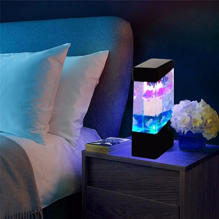 LED-Desktop-Light-Little-Fish-Tank-Lamp-Light-Colorful-LED-Fish-Lamp-Aquarium-Relaxing-Bedside-Mood-Night-Light-ChangeableClear0-5W