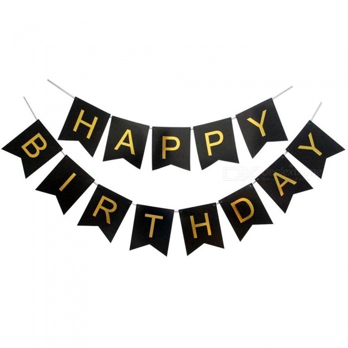Buy 30 40 50 60 70 Happy Birthday Party Decorations Adult Customized Birthday Party Supplies Gold Black Anniversary Decor Birthday banner with Litecoins with Free Shipping on Gipsybee.com