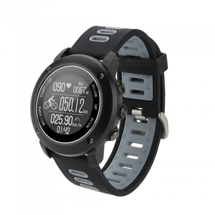 UW90 Bluetooth  Sport Wristwatch 1.2 Inch GPS Heart Rate Monitor Pedometer