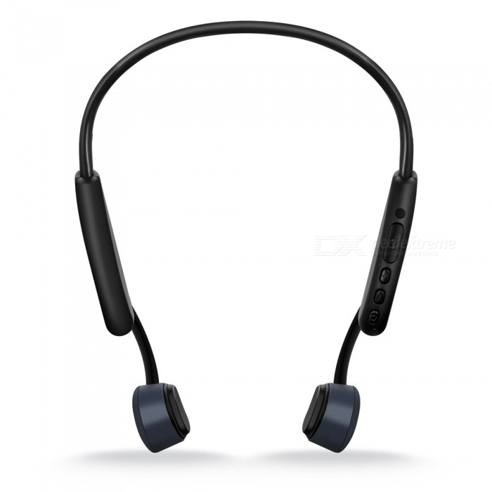 S.Wear Z8 New bone conduction Bluetooth headset memory wire outdoor sports waterproof after hanging Bluetooth headset Gray +