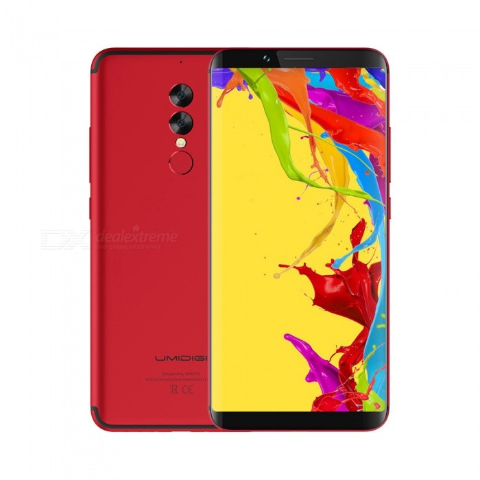 UMIDIGI S2 Lite 4G Phone - Red, 4GB RAM, 32GB ROM, Face ID, 5100mAh Battery, 16.0MP Rear Camera for sale for the best price on Gipsybee.com.