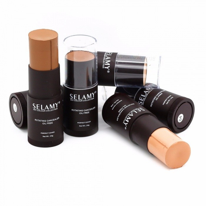8 Colors Rotating Concealer Foundation Stick Waterproof Oil Free Highlighter Contouring Face Cosmetic Cream