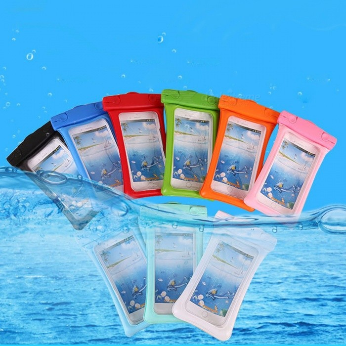 Buy Stylish Clear Waterproof Bag Mobile Phone Protective Bag For Outdoor Swimming Red with Litecoins with Free Shipping on Gipsybee.com