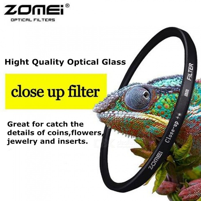 ZOMEI Circular Close Up Filter 1+2+3+4 Times Optical Camera Lens Caliber 77mm