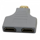 1080P HDMI Male Port to 2 Female Converter 1 in 2 Out HDMI Splitter Cable Adapter Audio Video Signals Converter
