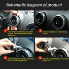 JEDX Car Air Outlet Mount 360-Degree Rotary Phone Holder for Audi A3/S3 - Black