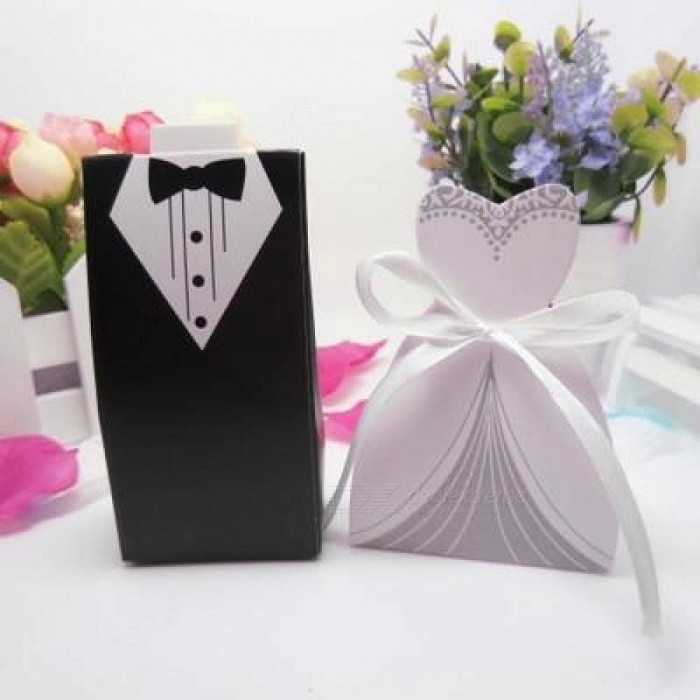 100pcs Wedding Candy Box Laser Cut Mini Kraft Gift Box Cardboard Favor Packaging Decoration Gift for Guests small size/Deep Sapphire