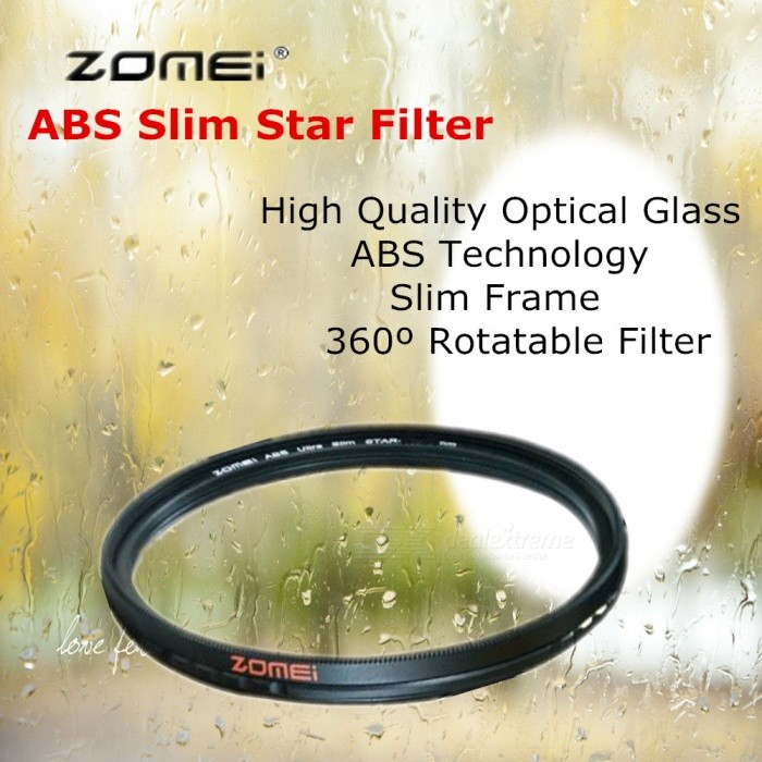 ZOMEI Circular ABS Adjustable Slim Star Filter Gross 4 Point Optical Camera Lens Caliber 77mm