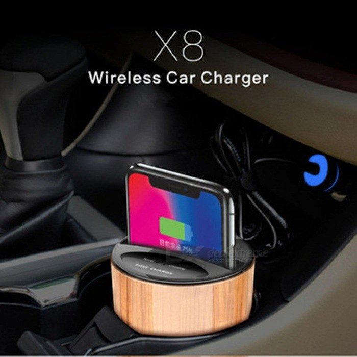 X8 Qi Car Wireless Charger Cup Phone Stand Holder Cup Fast Charging for QI-enabled Smart IPhones