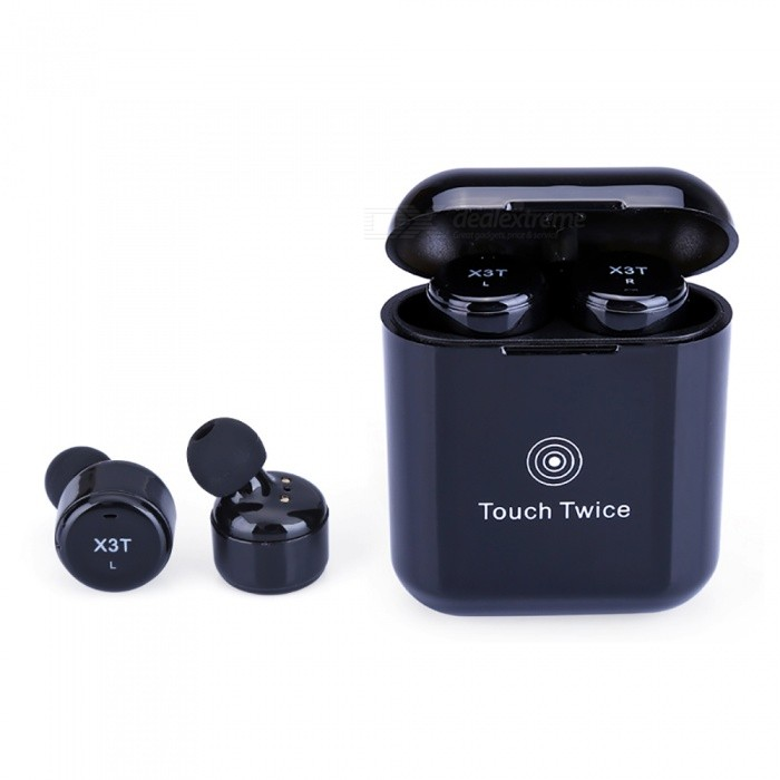 Measy Wireless Earbuds Touch Control Bluetooth Headphones True Cordless Earphones with Microphone Charging Box