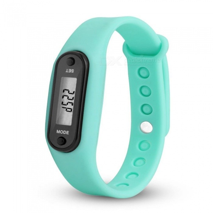 Run Step Watch Bracelet Pedometer Calorie Counter Digital LCD Walking Distance Bracelet Water-resistant Digital Watch