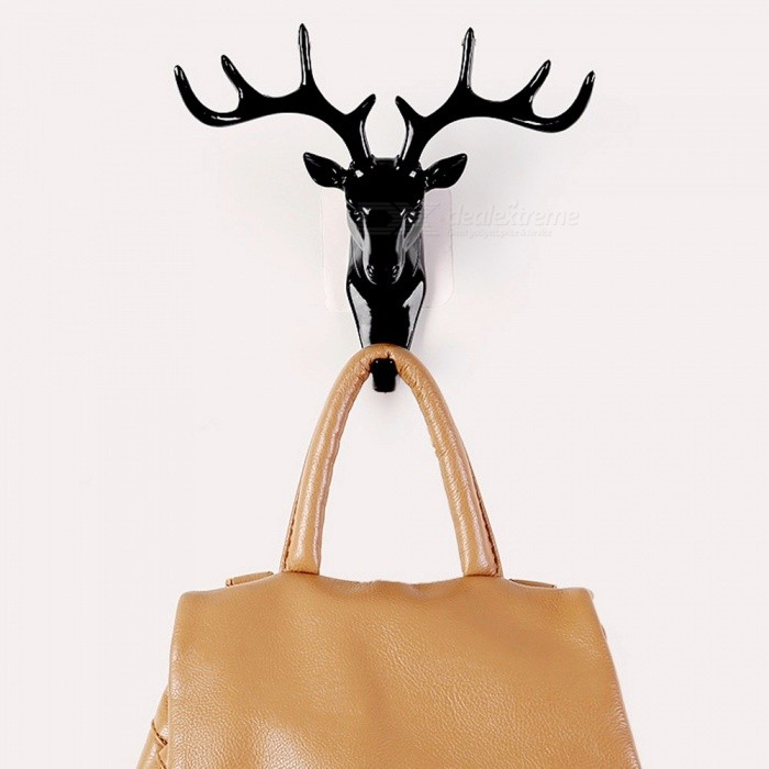 Deer Head Self Adhesive Clothing Display Racks Hook Coat Hanger Cap Room Decor Show Wall Bag Keys Sticky Holder Black for sale in Bitcoin, Litecoin, Ethereum, Bitcoin Cash with the best price and Free Shipping on Gipsybee.com