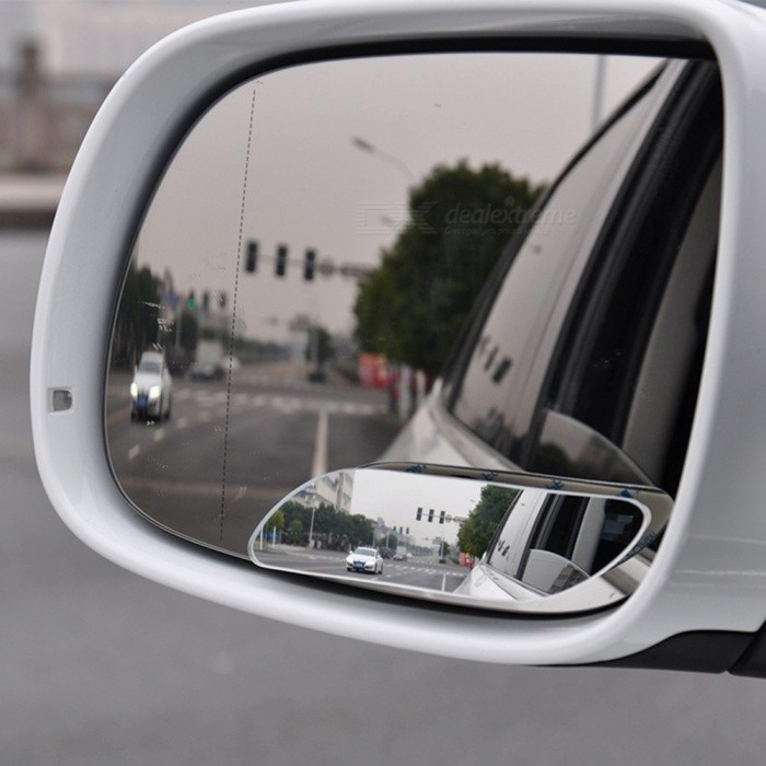 Car Rearview Mirror 360 Degree Adjustable Frameless Wide Angle Blind Spot Rearview Mirror Silver