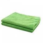CARKING-2pcs-300gsm-65-x-33cm-Green-Water-Absorbing-Microfiber-Car-Body-Cleaning-Towels-Green